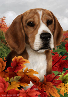 Beagle Tamara Burnett Fall Flag