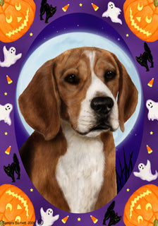 Beagle Tamara Burnett Halloween Howl Flag