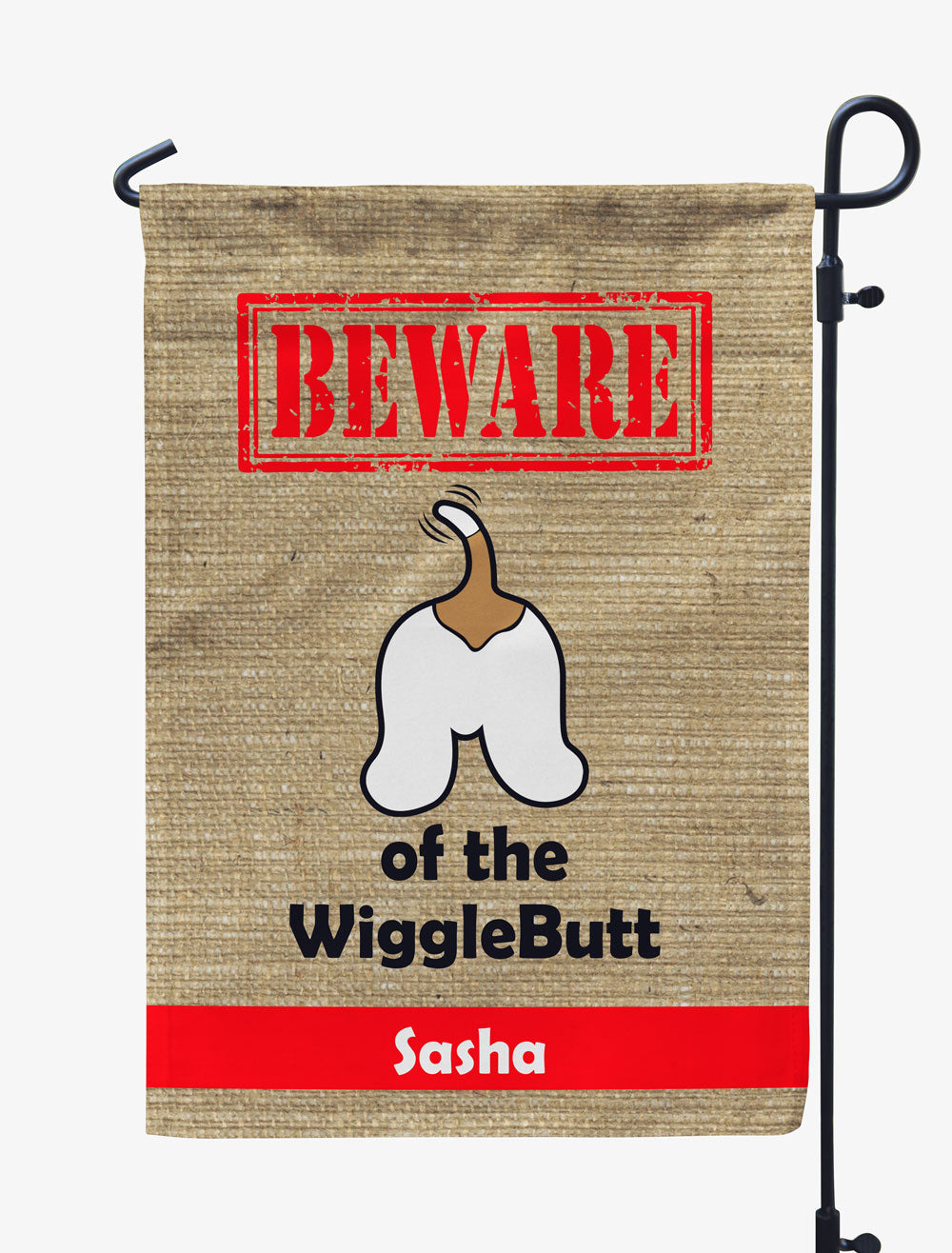 Personalized Beware of the WiggleButts Flag