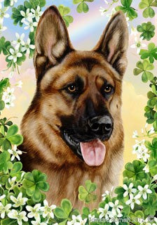 German Shepherd St Patricks Day Flag