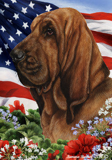 Bloodhound Tamara Burnett Patriotic Flag