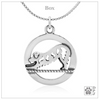 Sterling Silver Downward Dog Yoga Pendant