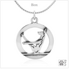 Sterling Silver Boat Pose Yoga Pendant