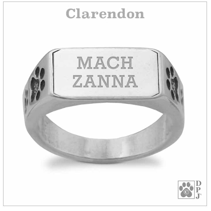 Personalized Engraved Sterling Silver Paws UP Ring, Engrave, Sz 9-14