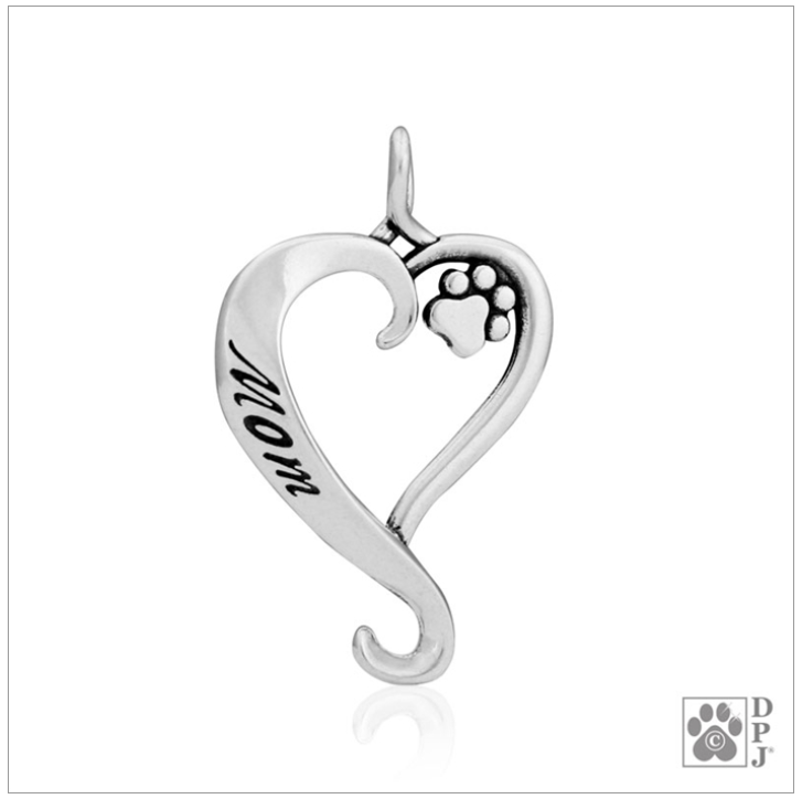 Sterling Silver Dog Mom Pendant