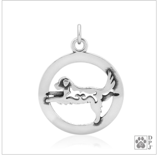 Sterling Silver Warrior III Dog Yoga Pendant