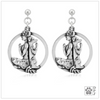 Sterling Silver Dog Yoga Earrings