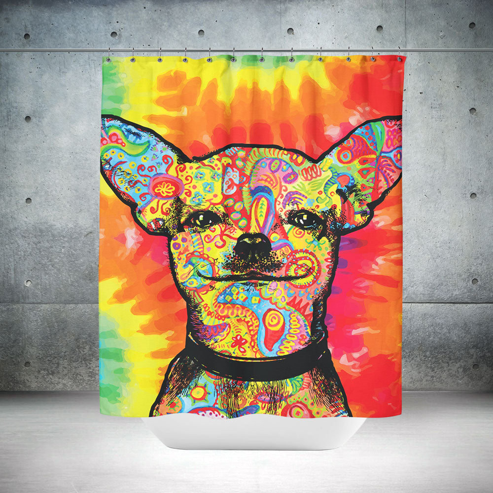 Colorful Chihuahua Shower Curtain