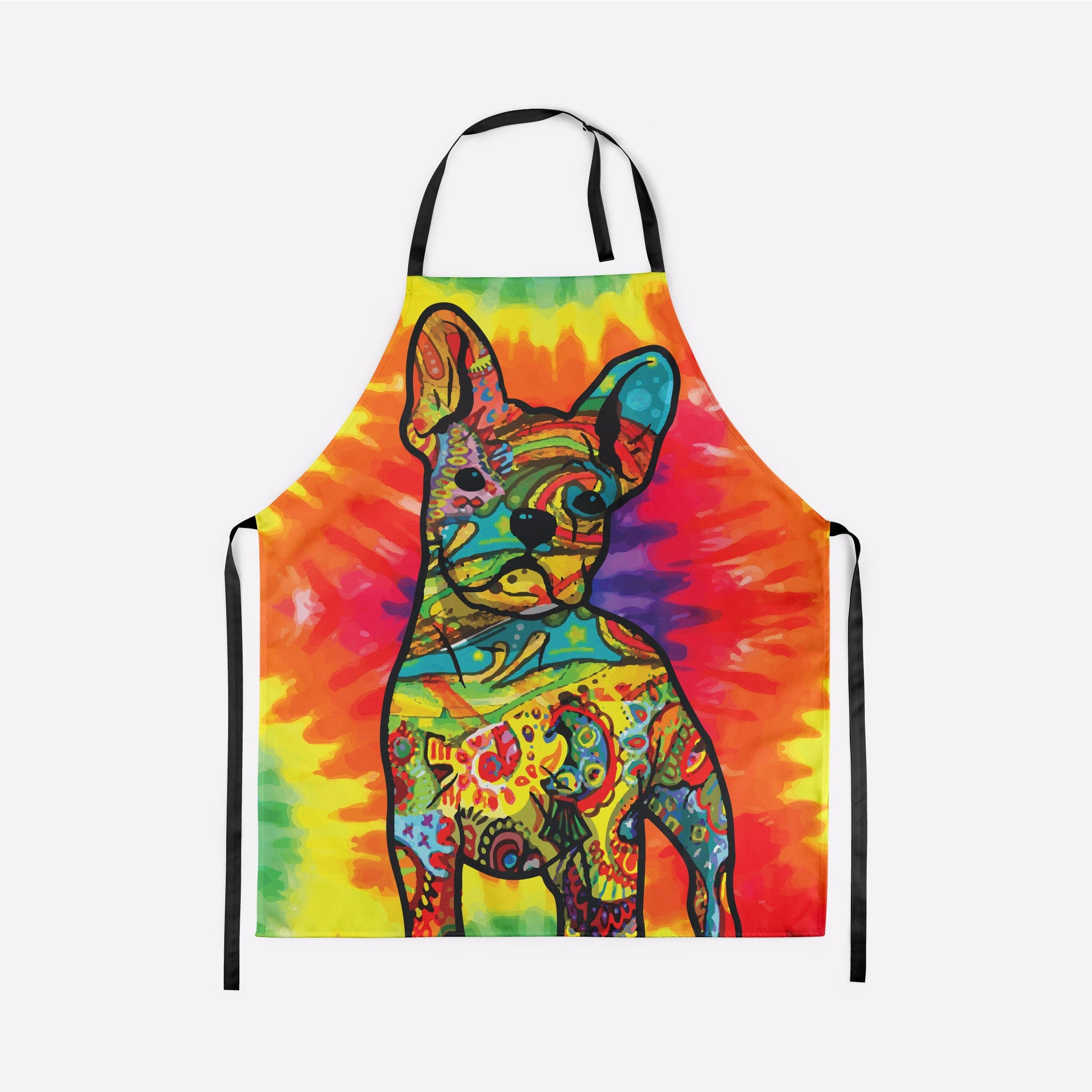 Colorful French Bulldog Apron