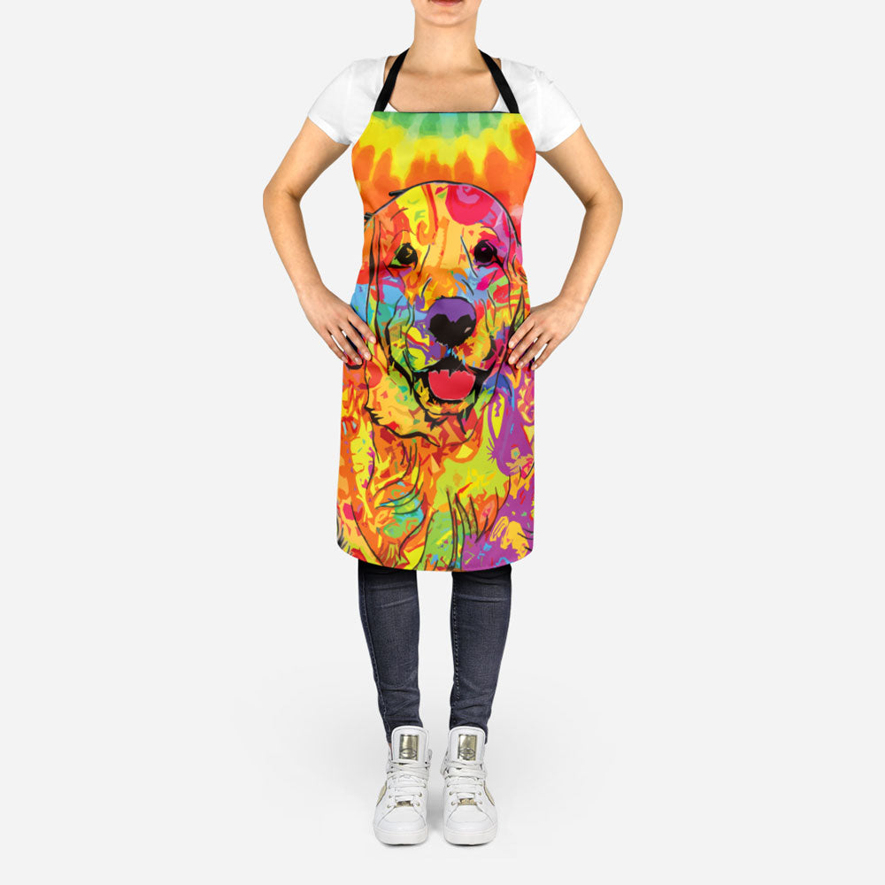 Colorful Golden Retriever Apron