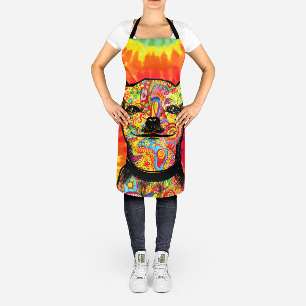 Colorful  Chihuahua Apron