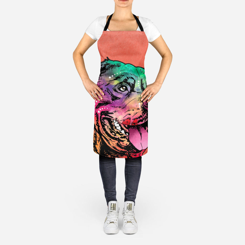 Colorful Rottweiler Apron