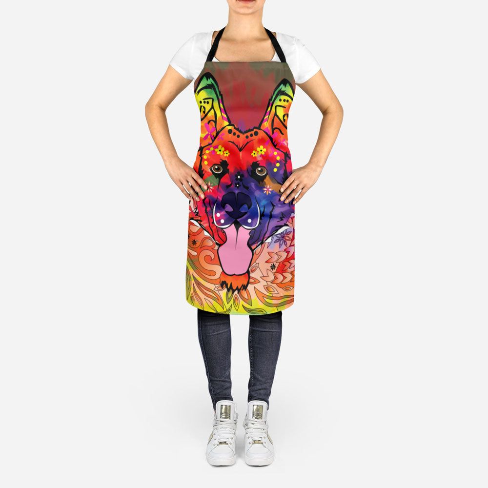 Colorful German Shepherd Apron
