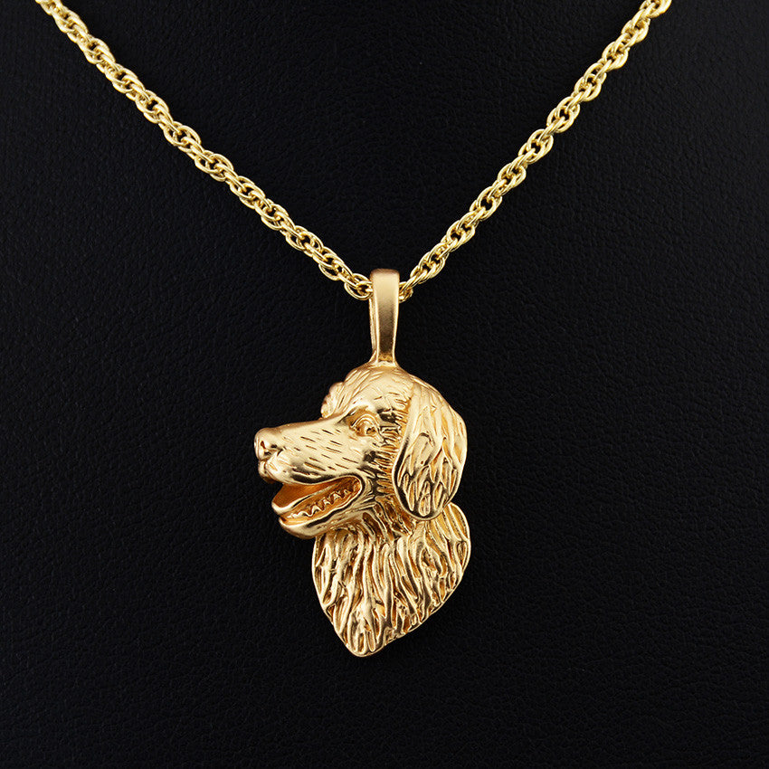 Golden Retriever 3D Necklace – DS