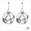 Sterling Silver Adho Mukha Svanasana Yoga Earrings