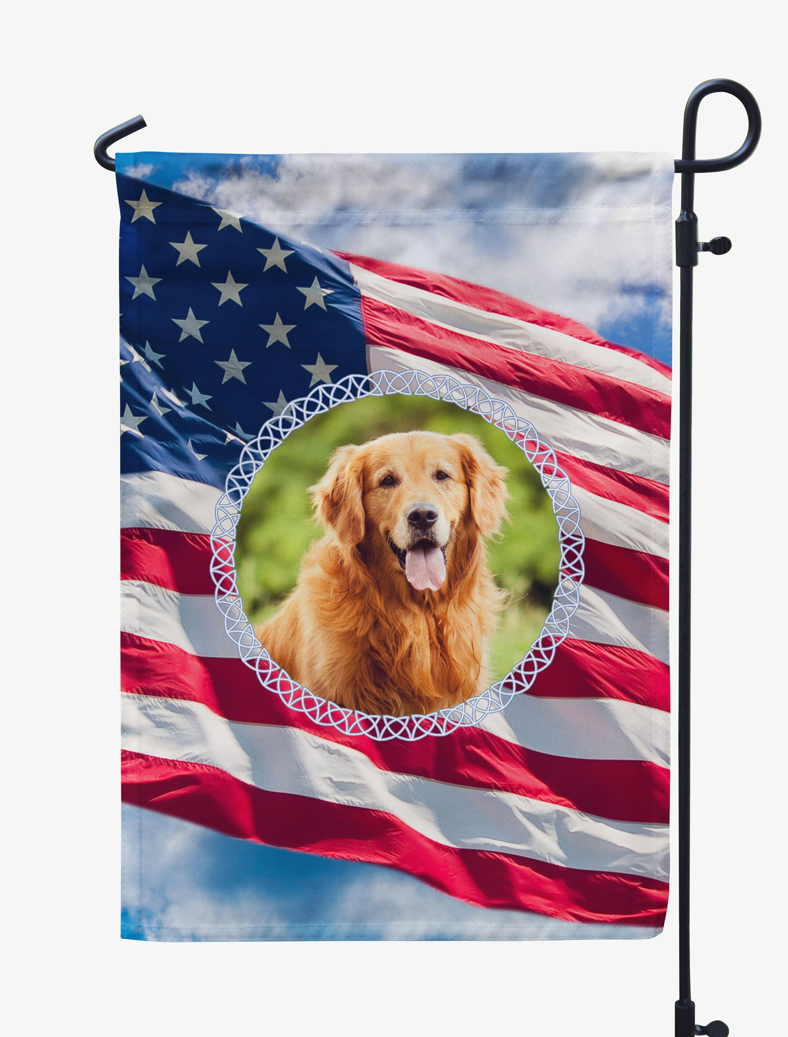 Personalized USA Flag-Themed Photo Flag for Pets