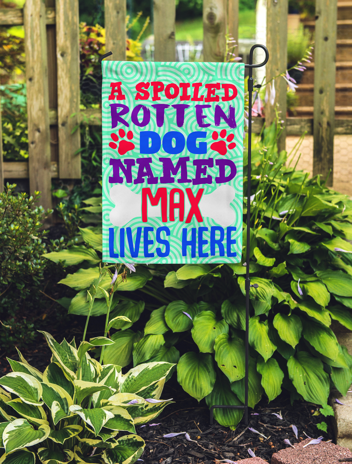 Personalized Spoiled Rotten Dog Flag - Mostly Paws