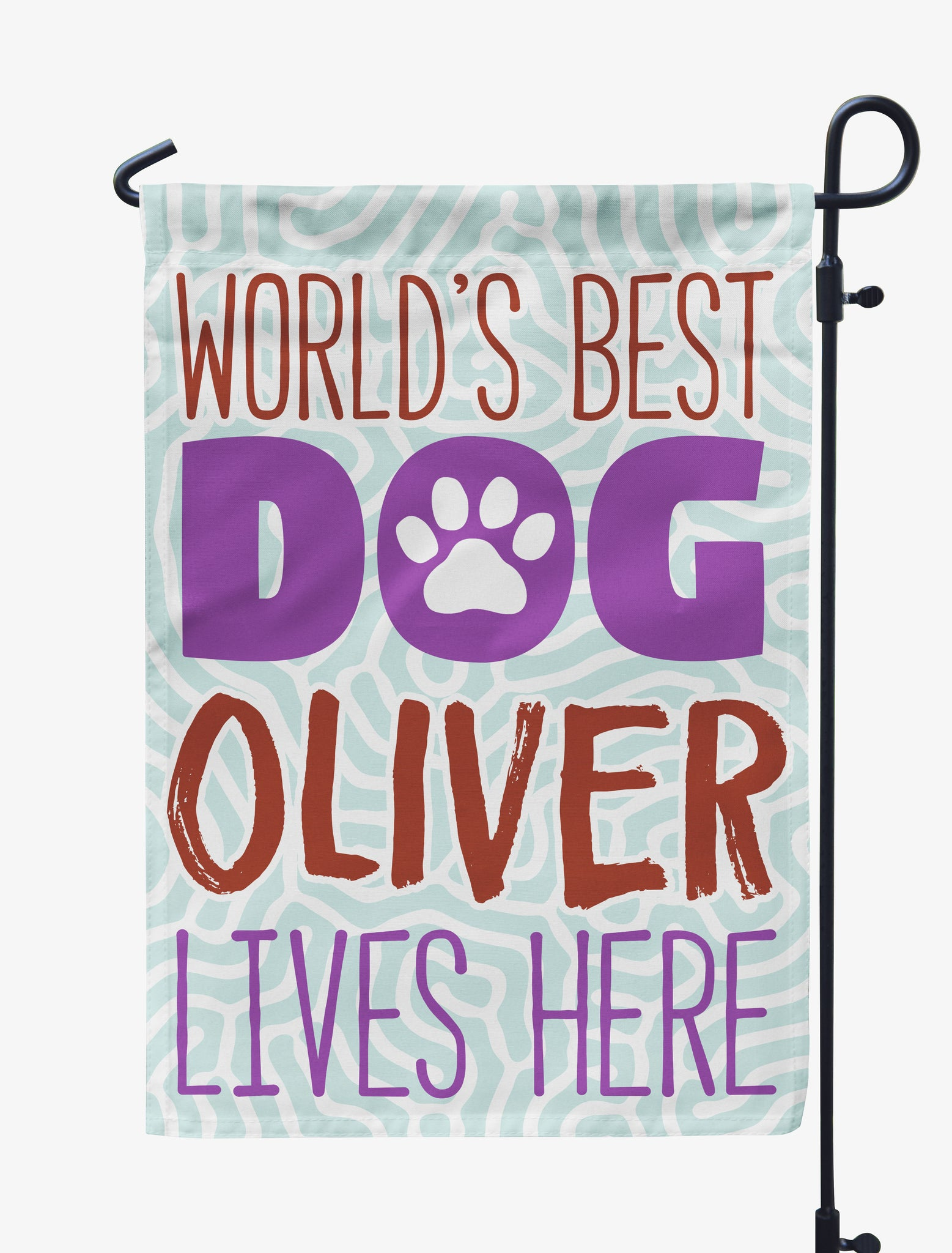 Personalized World's Best Dog Flag