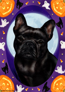 French Bulldog Tamara Burnett Halloween Howl Flag