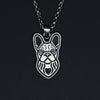 French Bulldog Portrait Pendant Necklace D
