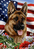 German Shepherd Tamara Burnett Patriotic Flag