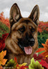 German Shepherd Tamara Burnett Fall Flag