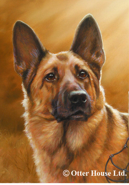German Shepherd John Silver Flag