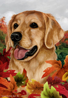 Golden Retriever Tamara Burnett Fall Flag
