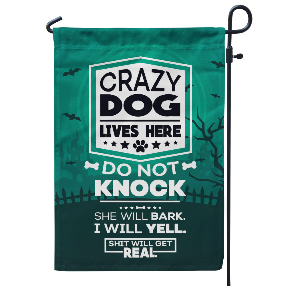 Crazy Dogs - Shit Will Get Real - Halloween Edition Flag