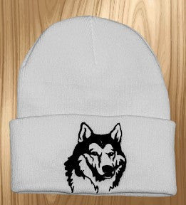 Hand Made Husky Knit Hat