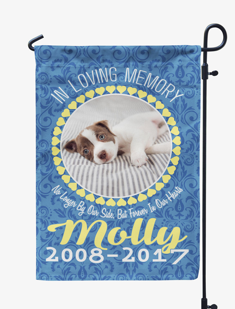 Personalized In Loving Memory Pet Memorial Photo Flag