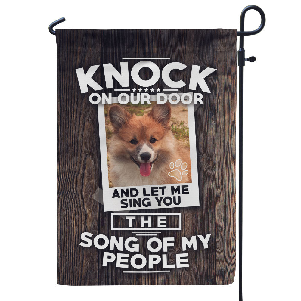 Personalized Knock on Our Door Photo Flag