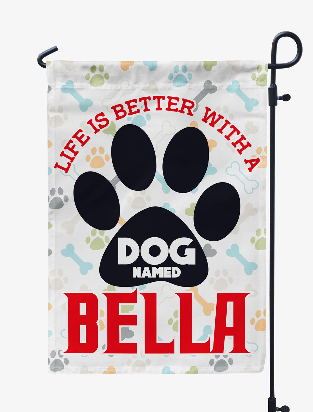 Personalized Life Is Better With A Dog Flag