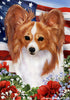 Papillon Tamara Burnett Patriotic Flag