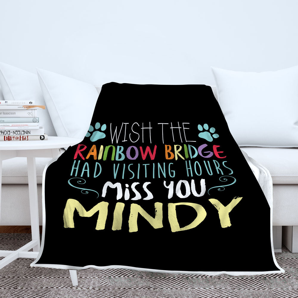 Personalized Rainbow Bridge Blanket
