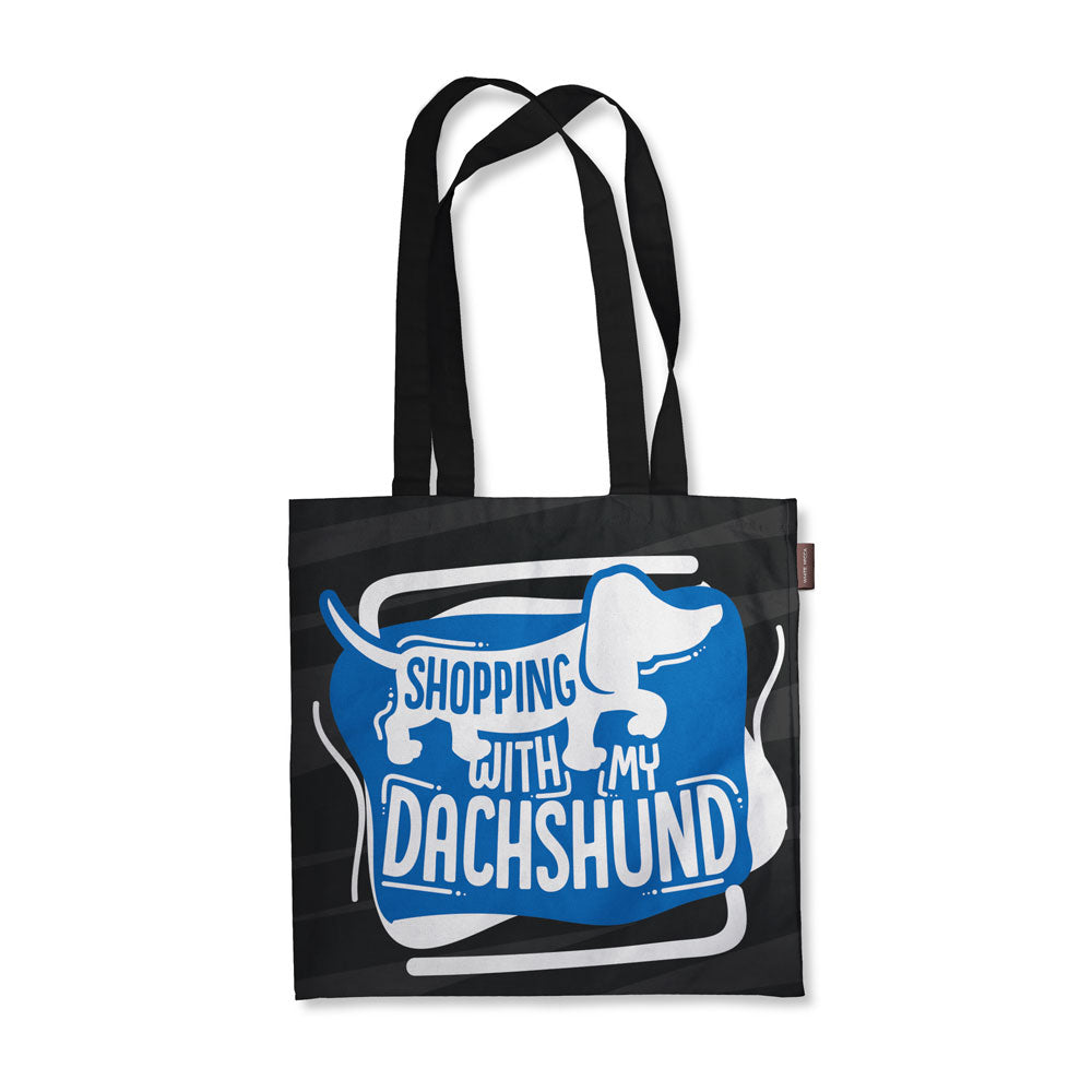 Shopping With My Dachshund Tote Bag