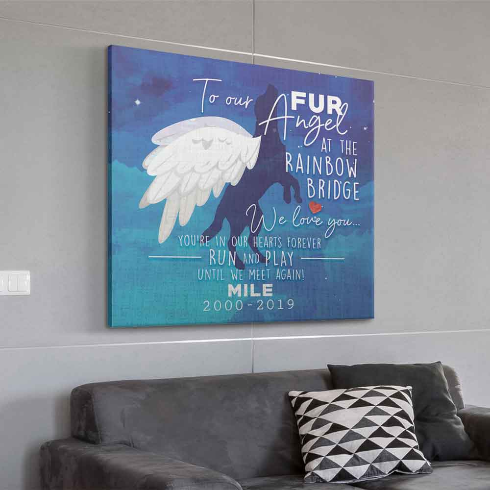 Personalized To All The Fur Angels Wall Art Canvas