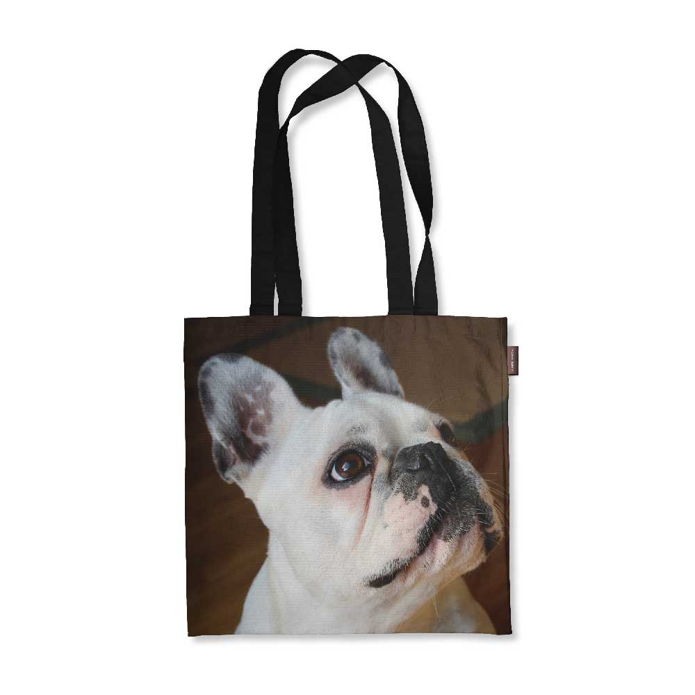 "Realistic French Bulldog Tote Bag - 18"" X 18"""