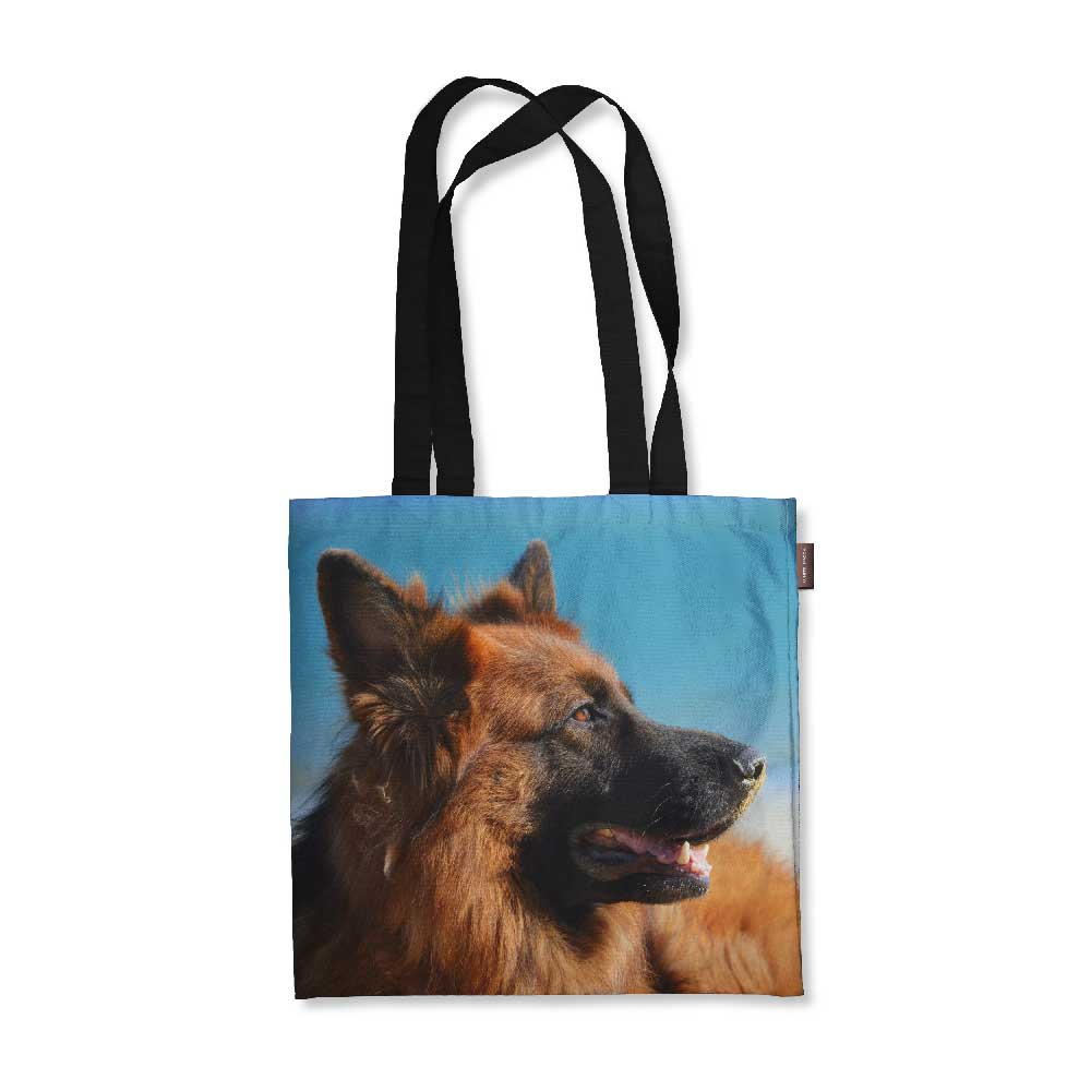 "Realistic German Shepherd Tote Bag - 18"" X 18"""