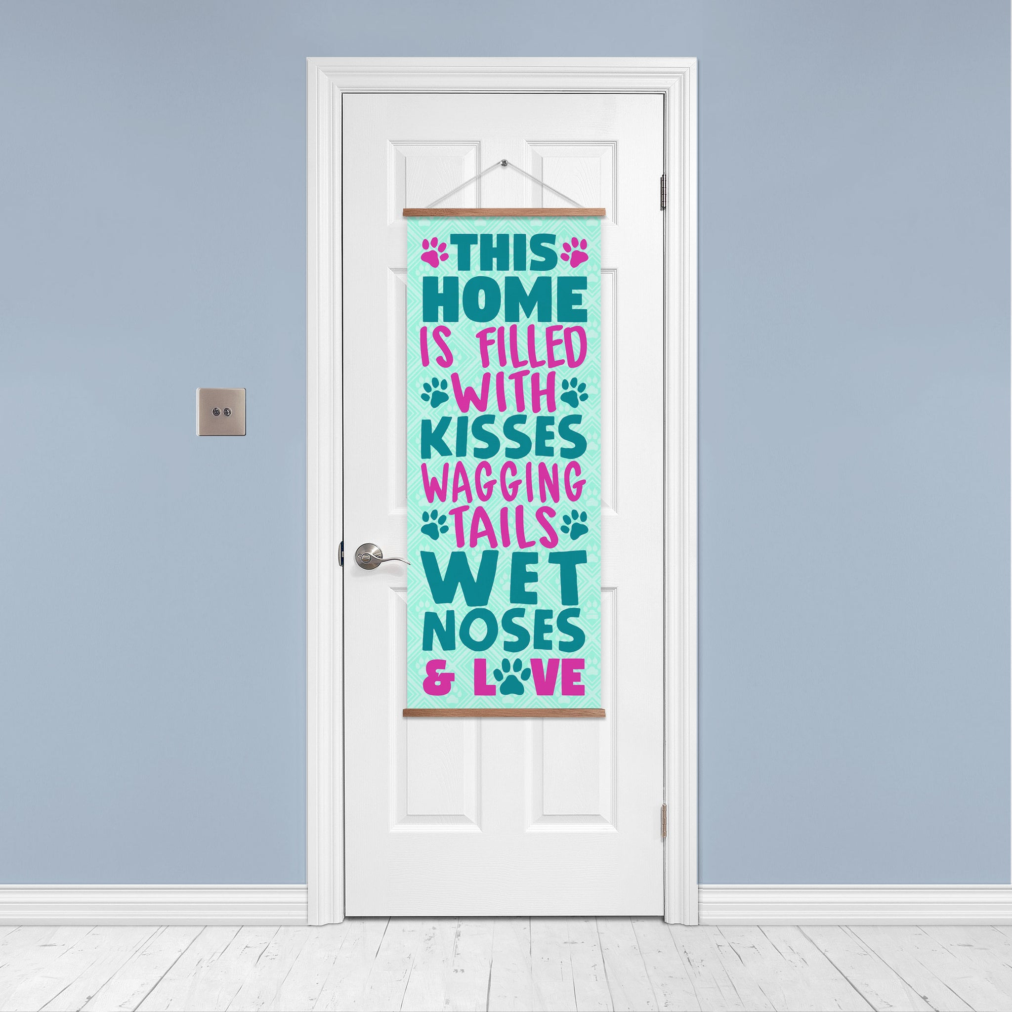 This Home Is Filled With Kisses Door/Wall Banner
