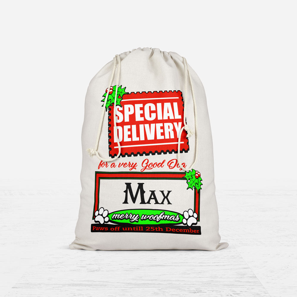 Personalized Christmas Dog Sack Bag