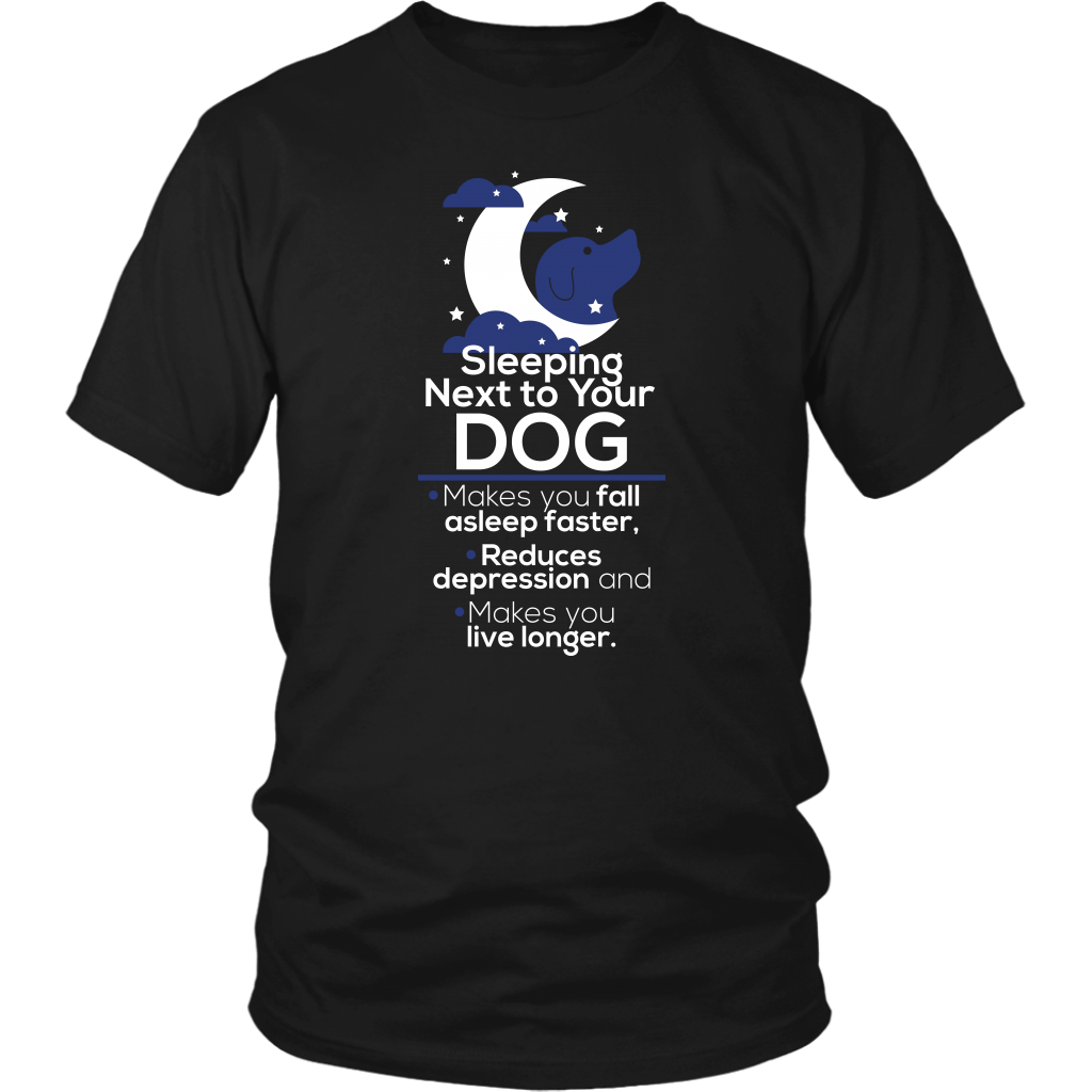 Sleeping Next To Your Dog T-shirt