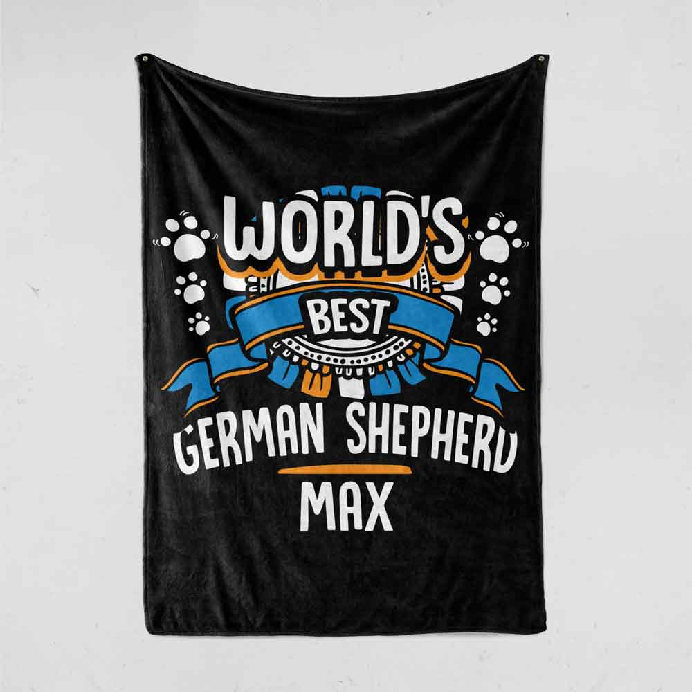 Personalized World's Best Dog Breed Name Dog Blanket