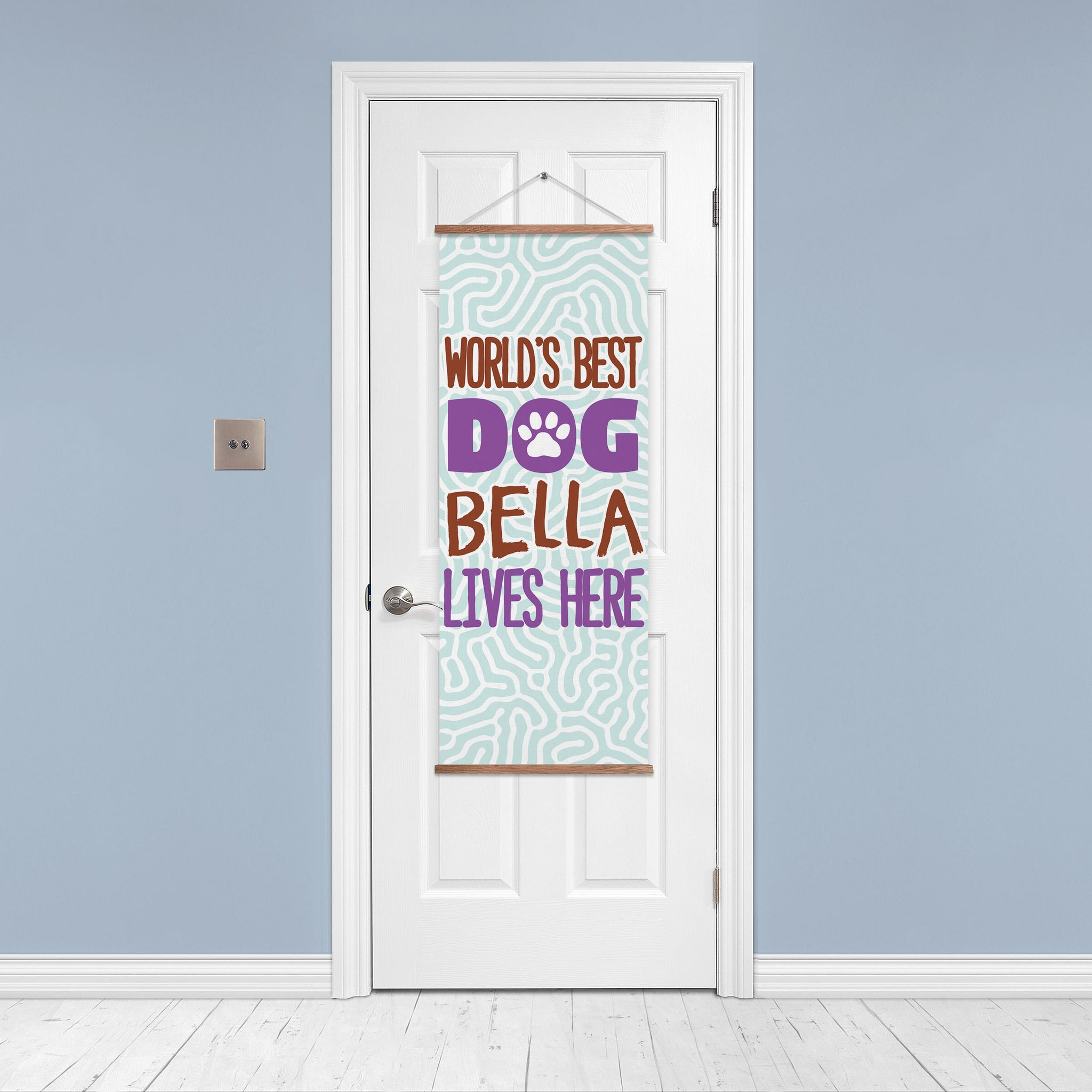 Personalized World's Best Dog Door Banner