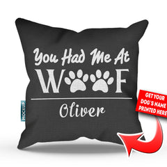 Personalized You Had Me At Woof Throw Pillow Cover - 18