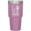 Personalized  Love Paw Print Laser Etched 30oz Tumbler