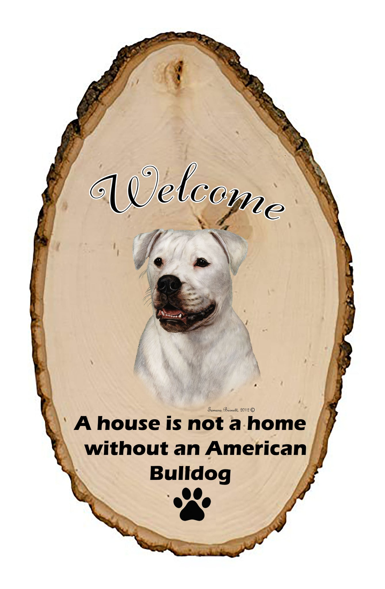 American Bulldog Welcome Vignette Sign