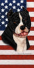 American Flag American Pitbull Beach Towel - 30