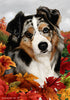 Australian Shepherd Tamara Burnett Fall Flag
