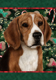 Beagle Tamara Burnett Christmas Dog Flag